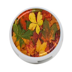 Colorful Autumn Leaves Leaf Background 4 Port Usb Hub (one Side) by Amaryn4rt