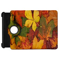 Colorful Autumn Leaves Leaf Background Kindle Fire Hd 7