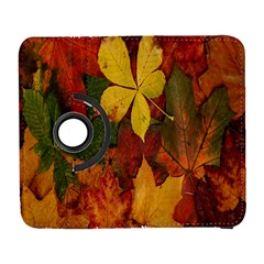 Colorful Autumn Leaves Leaf Background Galaxy S3 (flip/folio) by Amaryn4rt