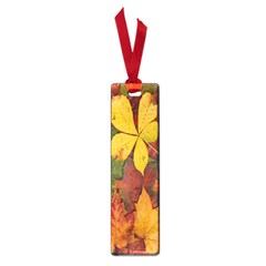 Colorful Autumn Leaves Leaf Background Small Book Marks by Amaryn4rt