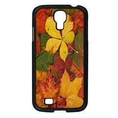 Colorful Autumn Leaves Leaf Background Samsung Galaxy S4 I9500/ I9505 Case (black) by Amaryn4rt
