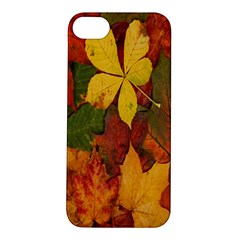 Colorful Autumn Leaves Leaf Background Apple Iphone 5s/ Se Hardshell Case by Amaryn4rt