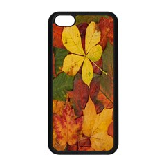 Colorful Autumn Leaves Leaf Background Apple Iphone 5c Seamless Case (black) by Amaryn4rt