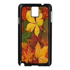 Colorful Autumn Leaves Leaf Background Samsung Galaxy Note 3 N9005 Case (black) by Amaryn4rt