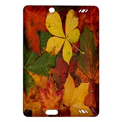 Colorful Autumn Leaves Leaf Background Amazon Kindle Fire Hd (2013) Hardshell Case by Amaryn4rt