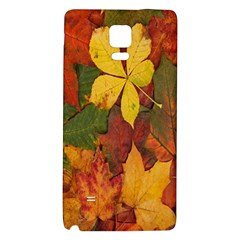 Colorful Autumn Leaves Leaf Background Galaxy Note 4 Back Case by Amaryn4rt