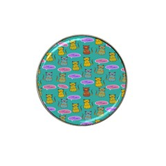 Meow Cat Pattern Hat Clip Ball Marker (10 Pack) by Amaryn4rt