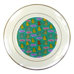 Meow Cat Pattern Porcelain Plates by Amaryn4rt