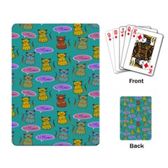 Meow Cat Pattern Playing Card by Amaryn4rt