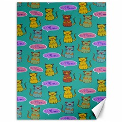 Meow Cat Pattern Canvas 36  X 48   by Amaryn4rt