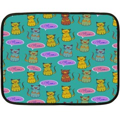 Meow Cat Pattern Double Sided Fleece Blanket (mini)  by Amaryn4rt