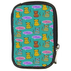Meow Cat Pattern Compact Camera Cases by Amaryn4rt