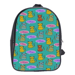 Meow Cat Pattern School Bags(large)  by Amaryn4rt
