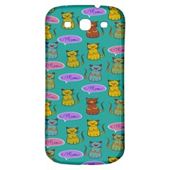 Meow Cat Pattern Samsung Galaxy S3 S Iii Classic Hardshell Back Case by Amaryn4rt