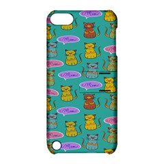 Meow Cat Pattern Apple Ipod Touch 5 Hardshell Case With Stand by Amaryn4rt
