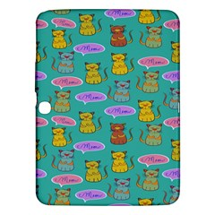 Meow Cat Pattern Samsung Galaxy Tab 3 (10 1 ) P5200 Hardshell Case  by Amaryn4rt