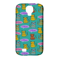Meow Cat Pattern Samsung Galaxy S4 Classic Hardshell Case (pc+silicone) by Amaryn4rt