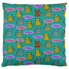 Meow Cat Pattern Large Flano Cushion Case (two Sides) by Amaryn4rt