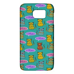 Meow Cat Pattern Galaxy S6 by Amaryn4rt