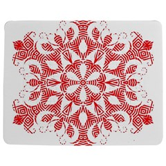 Red Pattern Filigree Snowflake On White Jigsaw Puzzle Photo Stand (rectangular) by Amaryn4rt