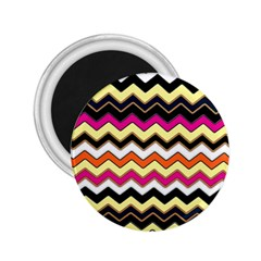 Colorful Chevron Pattern Stripes 2 25  Magnets by Amaryn4rt