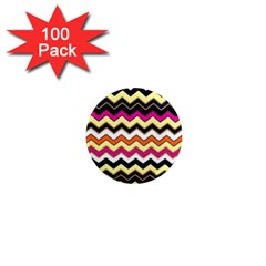 Colorful Chevron Pattern Stripes 1  Mini Magnets (100 Pack)  by Amaryn4rt