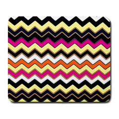 Colorful Chevron Pattern Stripes Large Mousepads by Amaryn4rt