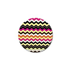 Colorful Chevron Pattern Stripes Golf Ball Marker (4 Pack) by Amaryn4rt