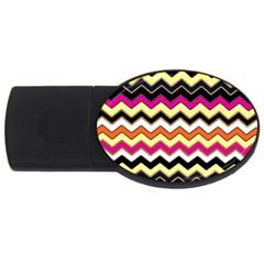 Colorful Chevron Pattern Stripes Usb Flash Drive Oval (4 Gb) by Amaryn4rt