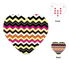 Colorful Chevron Pattern Stripes Playing Cards (heart)  by Amaryn4rt