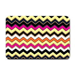 Colorful Chevron Pattern Stripes Small Doormat