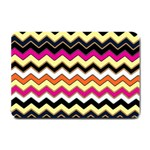 Colorful Chevron Pattern Stripes Small Doormat  24 x16 Door Mat - 1
