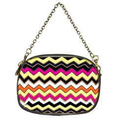 Colorful Chevron Pattern Stripes Chain Purses (one Side)  by Amaryn4rt