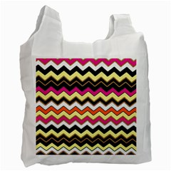 Colorful Chevron Pattern Stripes Recycle Bag (one Side) by Amaryn4rt