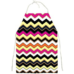 Colorful Chevron Pattern Stripes Full Print Aprons by Amaryn4rt
