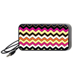 Colorful Chevron Pattern Stripes Portable Speaker (black) by Amaryn4rt