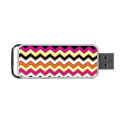 Colorful Chevron Pattern Stripes Portable Usb Flash (one Side)