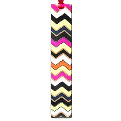 Colorful Chevron Pattern Stripes Large Book Marks
