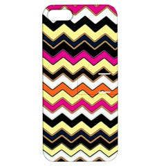 Colorful Chevron Pattern Stripes Apple Iphone 5 Hardshell Case With Stand by Amaryn4rt