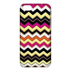 Colorful Chevron Pattern Stripes Apple Iphone 5c Hardshell Case by Amaryn4rt