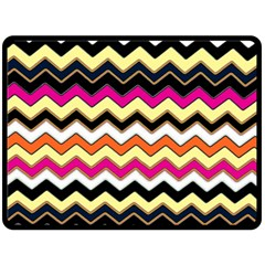 Colorful Chevron Pattern Stripes Double Sided Fleece Blanket (large)  by Amaryn4rt