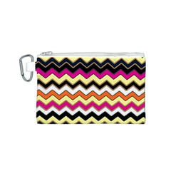 Colorful Chevron Pattern Stripes Canvas Cosmetic Bag (s)