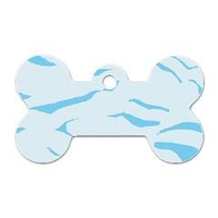 Blue Tiger Animal Pattern Digital Dog Tag Bone (one Side)