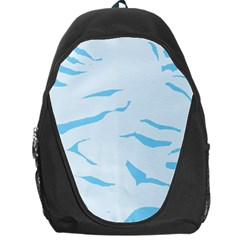 Blue Tiger Animal Pattern Digital Backpack Bag by Amaryn4rt