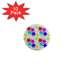 Snowflake Pattern Repeated 1  Mini Magnet (10 Pack)  by Amaryn4rt