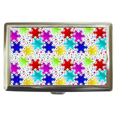 Snowflake Pattern Repeated Cigarette Money Cases by Amaryn4rt