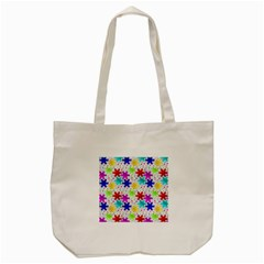 Snowflake Pattern Repeated Tote Bag (cream) by Amaryn4rt