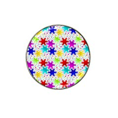 Snowflake Pattern Repeated Hat Clip Ball Marker (4 Pack) by Amaryn4rt