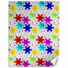 Snowflake Pattern Repeated Canvas 12  X 16   by Amaryn4rt