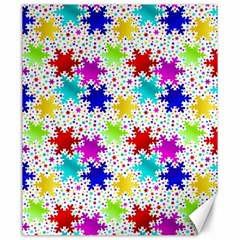 Snowflake Pattern Repeated Canvas 20  X 24   by Amaryn4rt